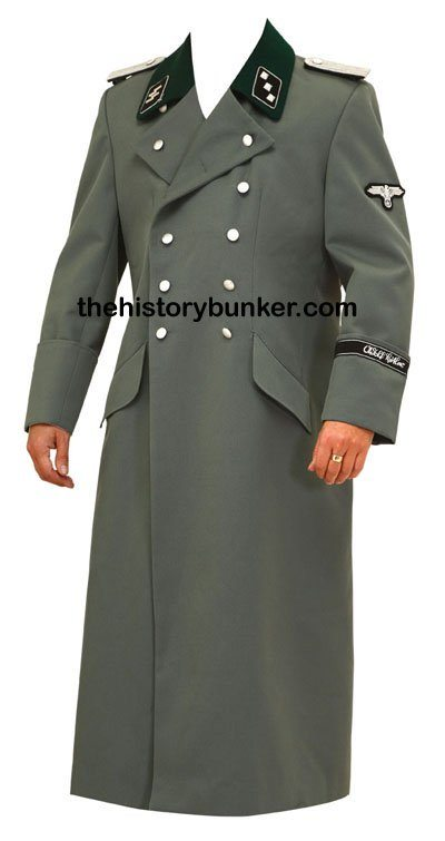 Ss Allgemeine Officers Tricot Overcoat Reproduction Ww1