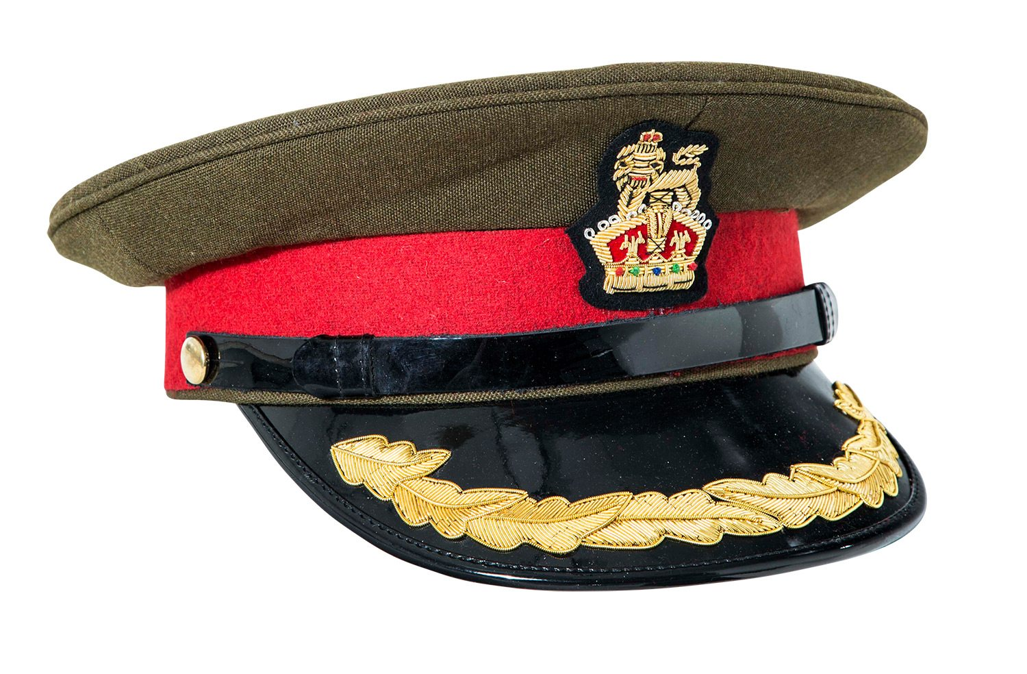 WW1 WW2 British army Colonel visor cap  b860078921b