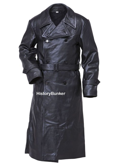 ww2 gestapo leather trench coat � reproduction ww1 and ww2