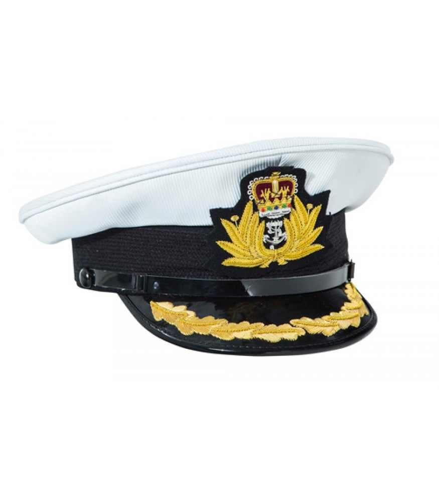 Royal Navy Commanders White Top Peaked Cap Reproduction