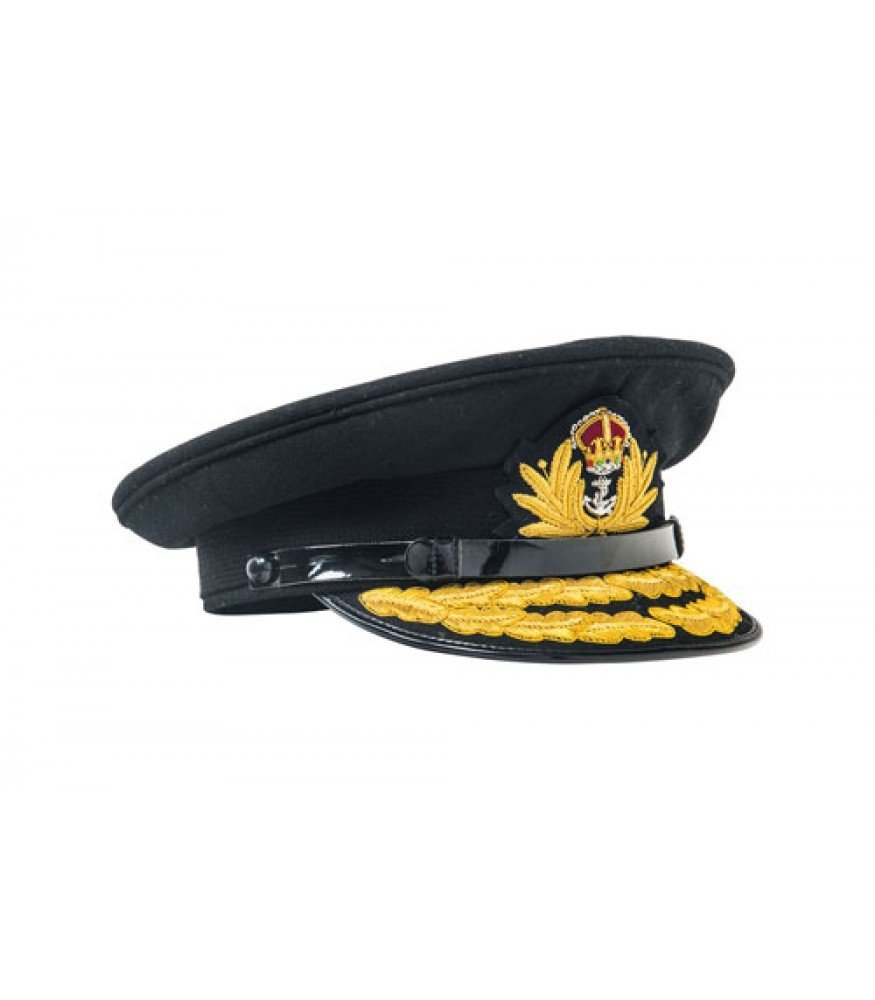 WW1 WW2 British Royal Navy Admirals cap