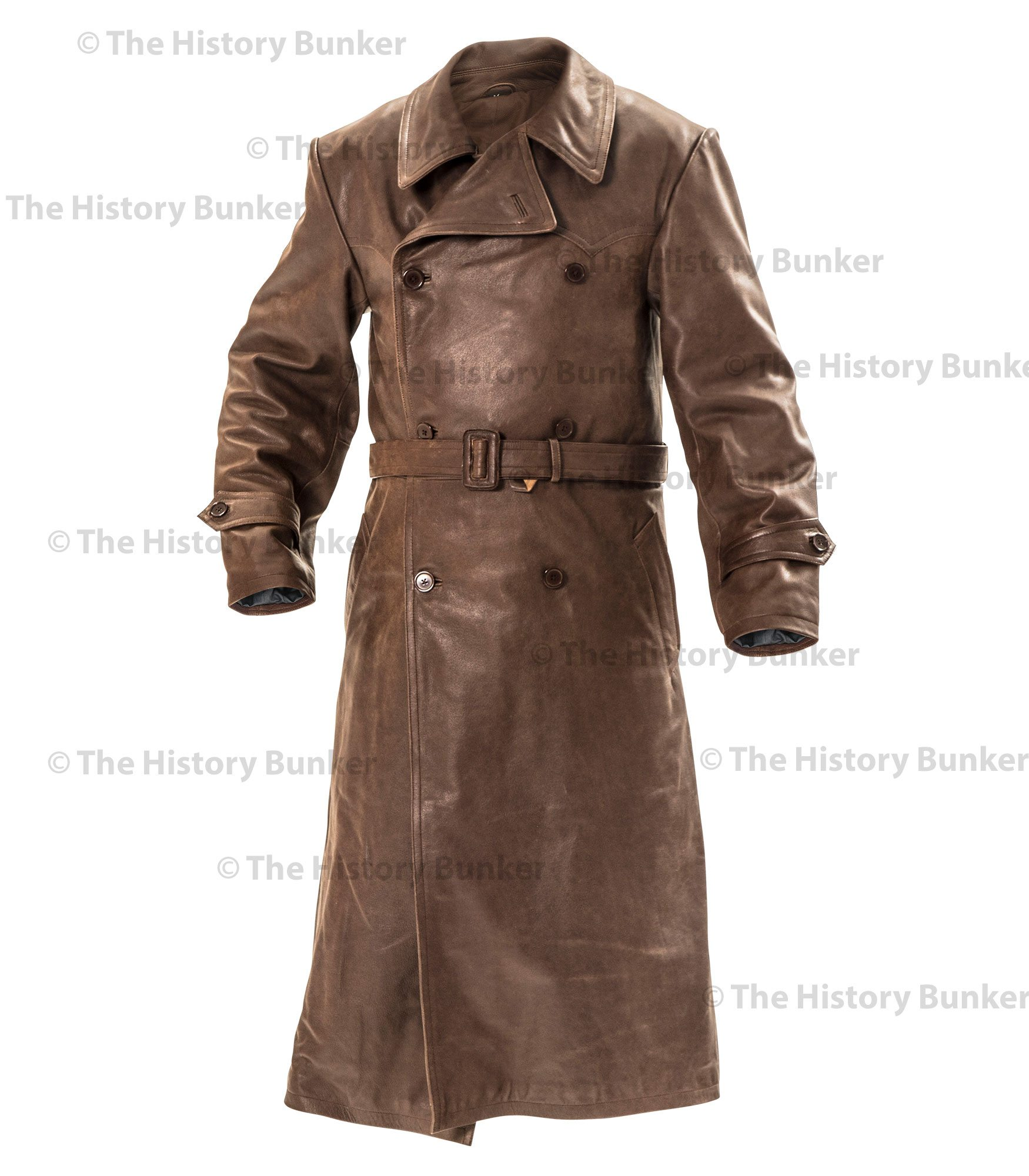 gestapo brown leather coat