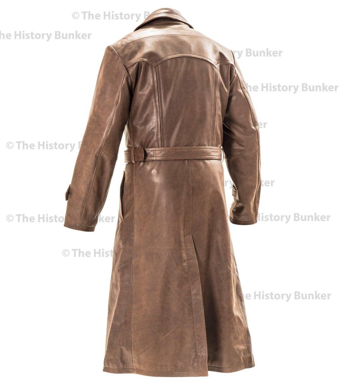 gestapo brown leather coat
