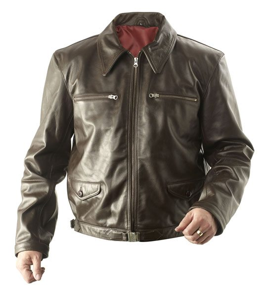 WW2 German Eric Hartmann Leather Flying Jacket BROWN