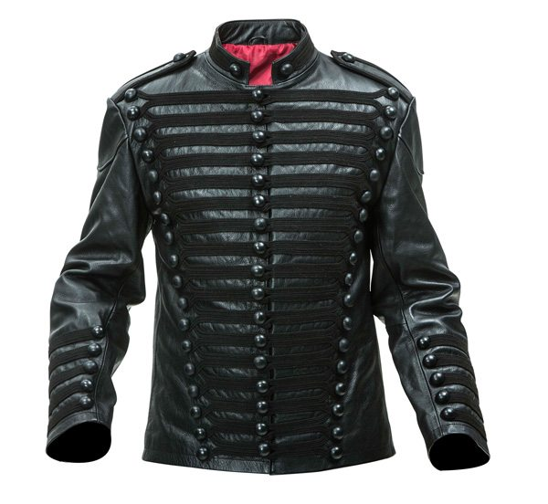 Leather British Hussars Tunic black frogging