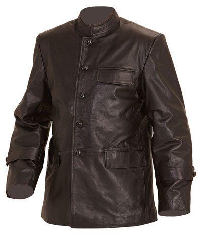 WW2 German Kriegsmarine crew jacket black leather