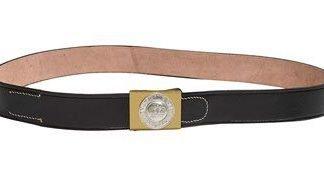 WW1 German army leather belt including buckle