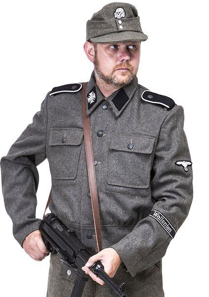 WW2 German SS soldiers tunic M44 wool