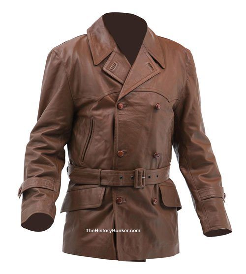 1930s British Motor Racing leather jacket brown