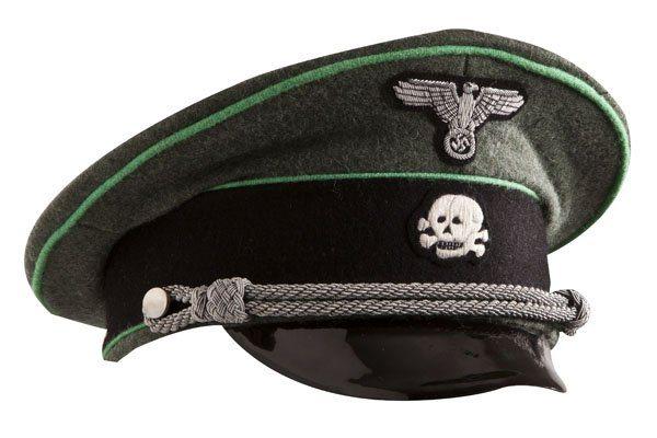 WW2 German SS officers wool visor cap Gebirgsjager