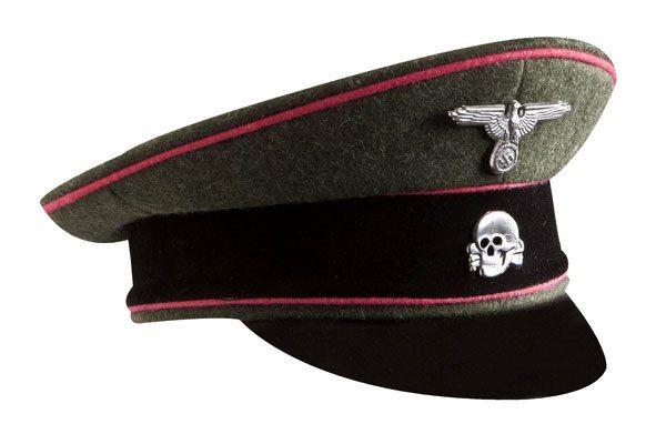 WW2 German SS officers wool visor cap Panzer