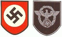WW2 German Army Helmet Decal Police
