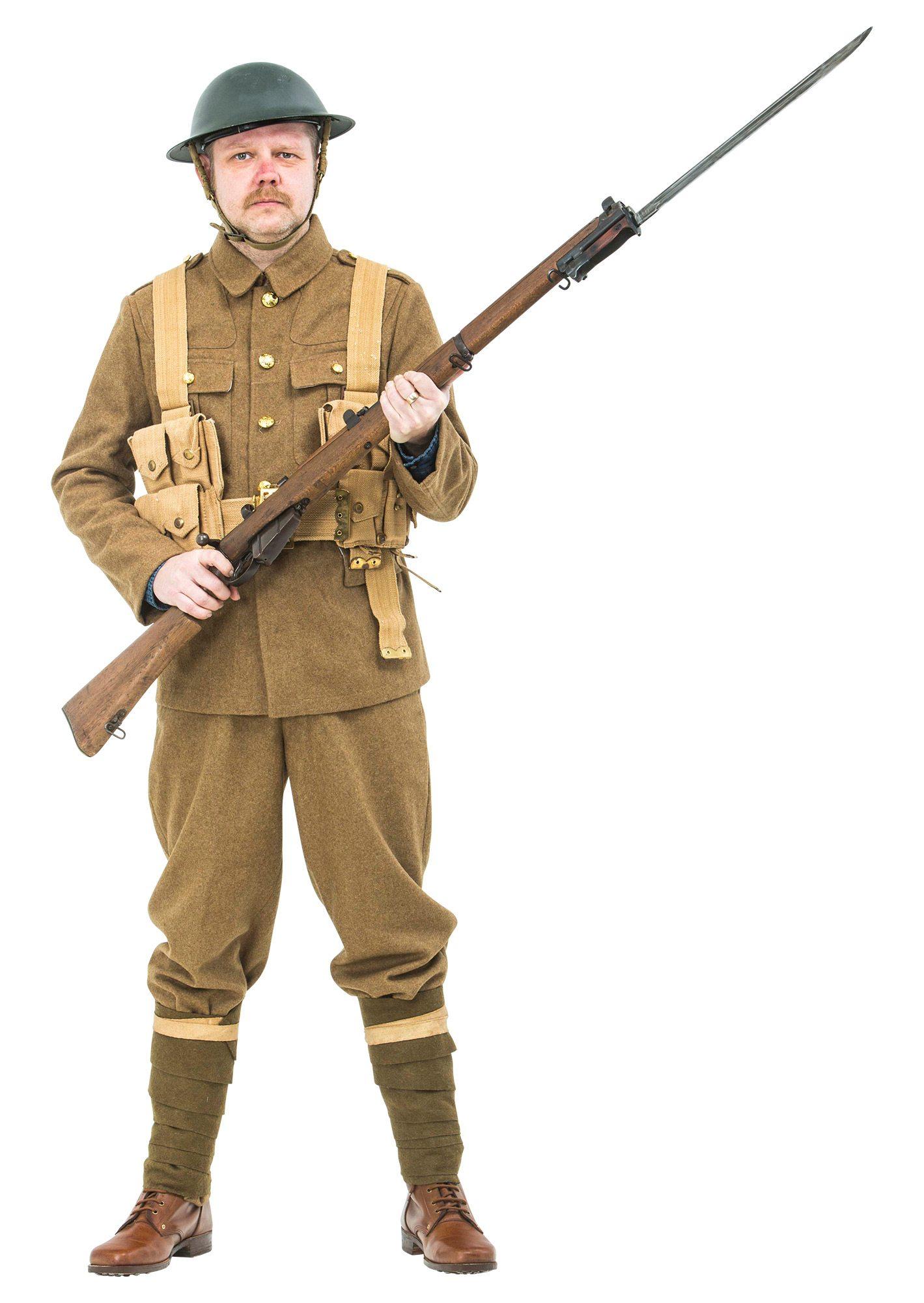 ww1 british army soldiers uniform 1914 including webbing