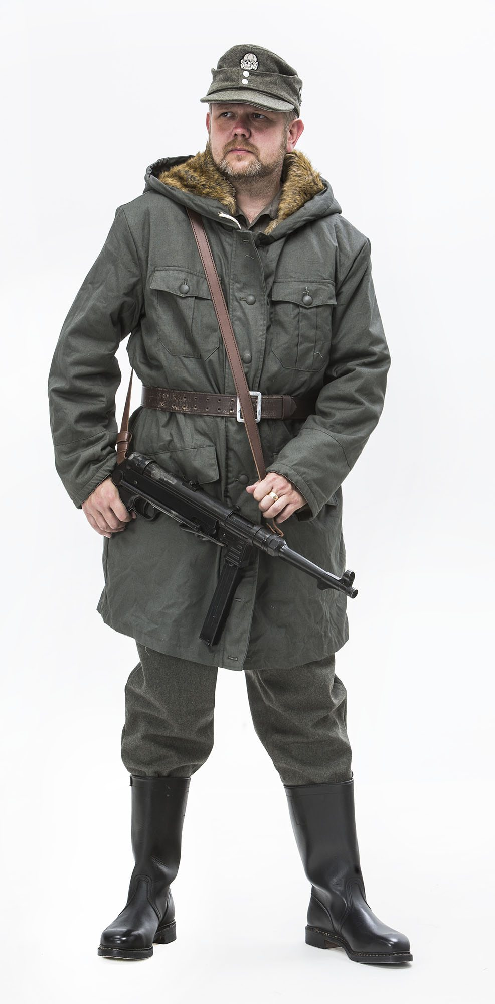 WW2 German Fur Parka Winter FULL UNIFORM