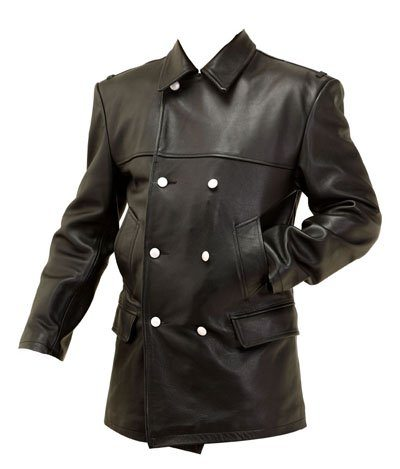 WW2 German Kriegsmarine deck jacket black leather