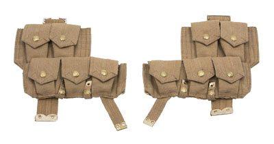 WW1 British P08 webbing ammo pouches 1 pair