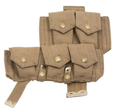 WW1 British P08 webbing ammo pouch left side