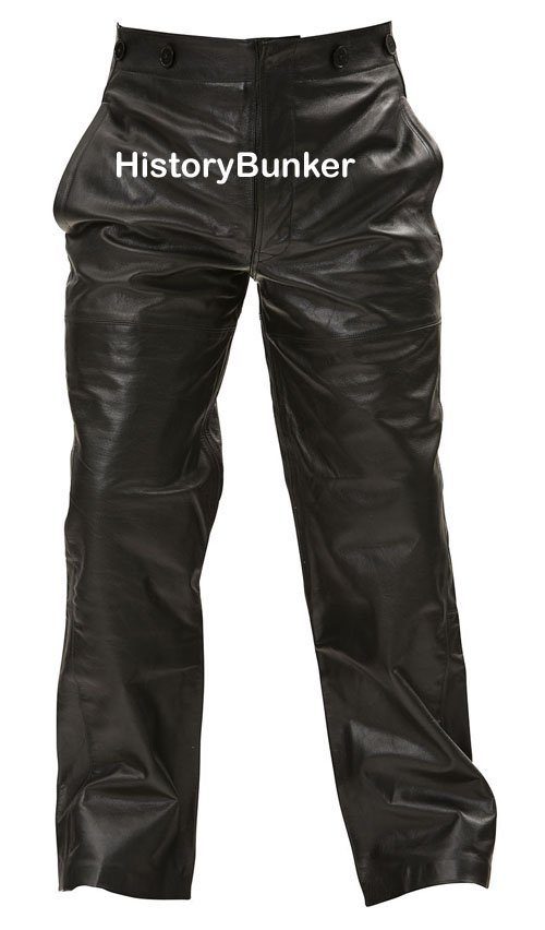 WW2 German U Boat trousers black leather