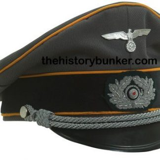 WW2 German Army officers tricot cap FELDGENDARMERIE