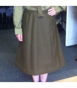 WW2 British Army ladies ATS service dress skirt